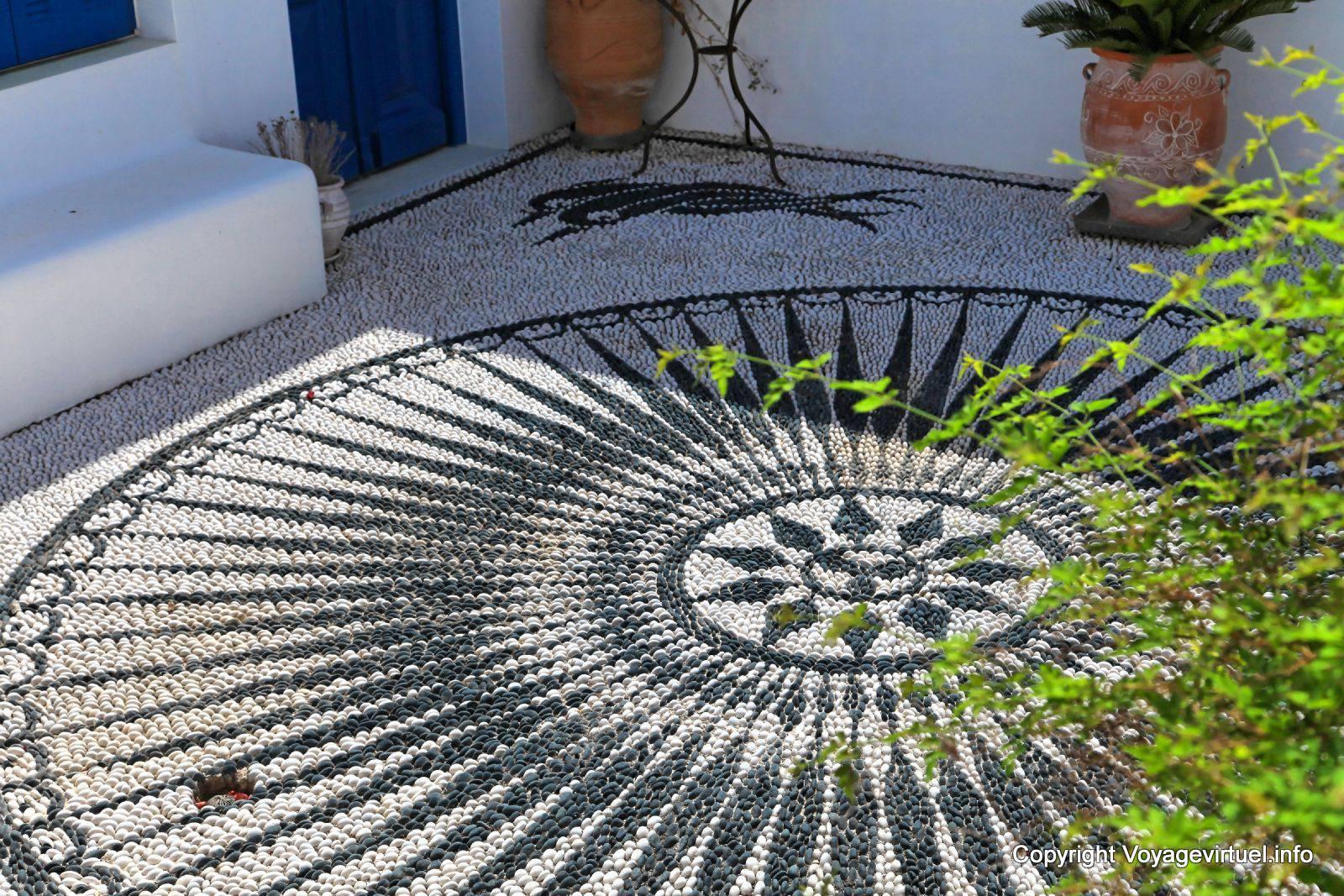 Milos, Plaka, Mosaico Seixo   Grécia